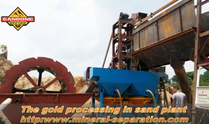 The gold concentration plant of river sand