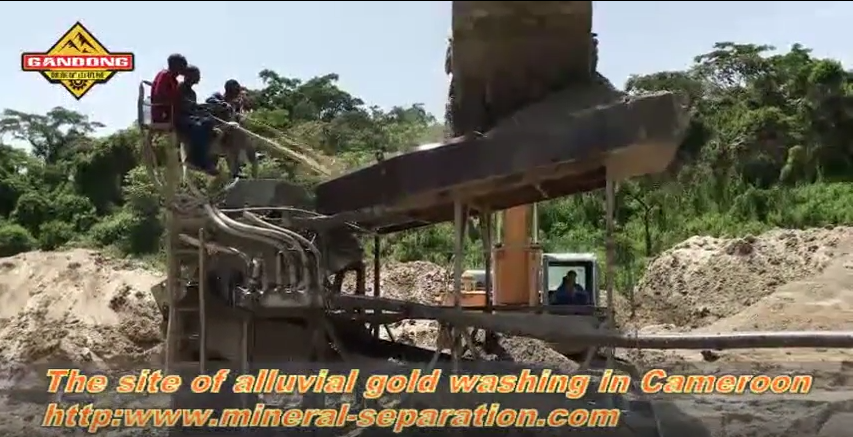 The mining site of alluvial gold in Cameroon