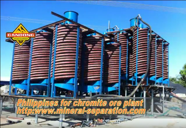 The chrome ore process plant in Philippines