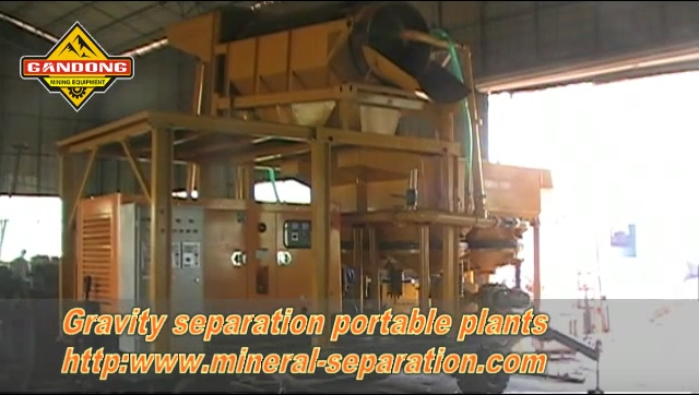 Mobile trommel and jig machine gravity separation plant